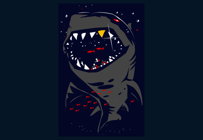 Limited Edition - Shark with Pixelated Teeth  Artwork