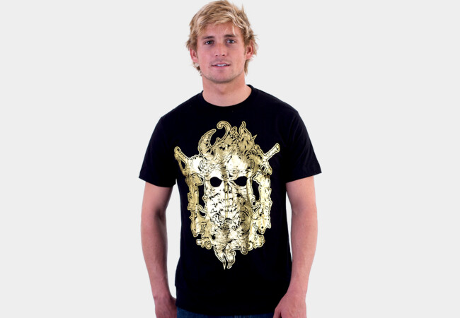 Two Candles Skull T-Shirt - Design By Humans