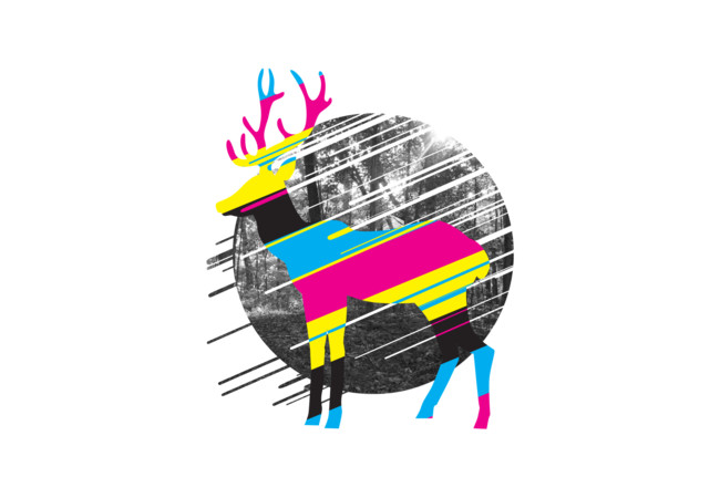 CMYK Deer  Artwork