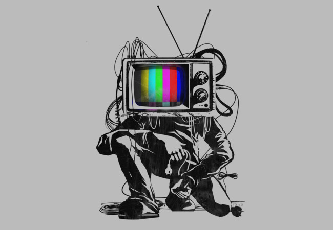 Retro TV Colour Test Man  Artwork