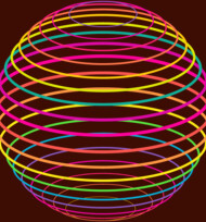 Neon Strings of Globe