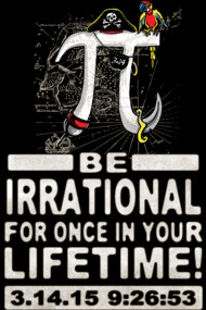 Be an Irrational Pi Day Pirate
