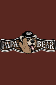 Papa Bear Father's Day Birthday Dad Logo