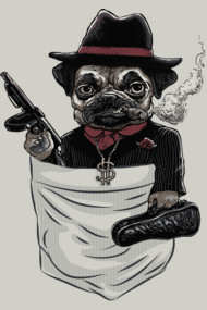Pugsy Beagle The Pocket Gangsta Pug