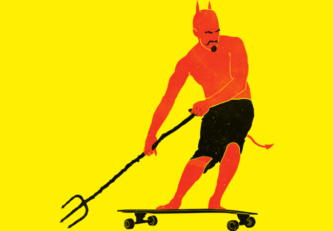Devil skateboard  Artwork