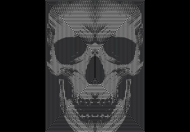 mirror skull  Artwork