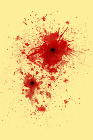 Blood spatter / bullet wound - Costume