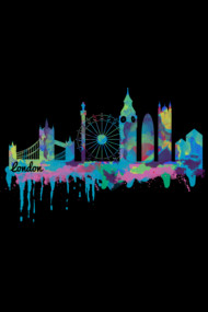 Inky London Skyline