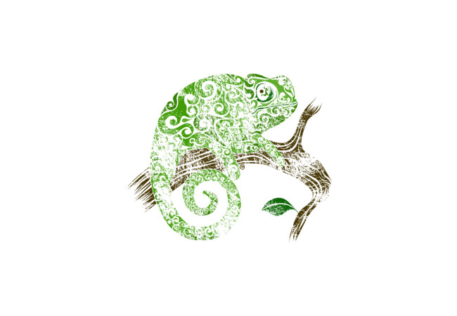 Swirly Chameleon  Artwork