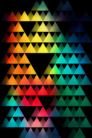 Triangles & Color 01 T-Shirt