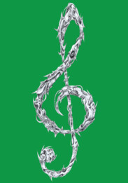 Metal Treble Clef