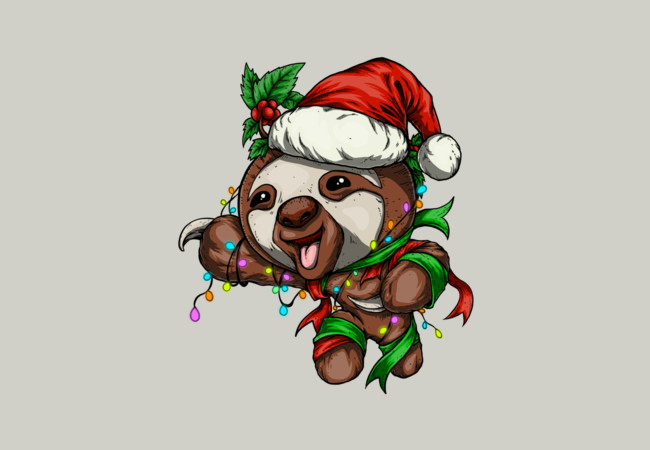 Festive Sloth  Artwork