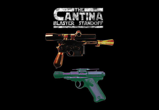 The Cantina Blaster Standoff  Artwork
