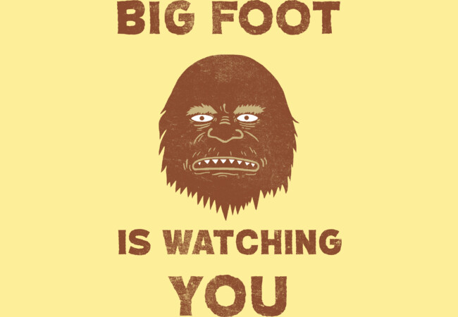 Big Foot Is Watching You  Artwork