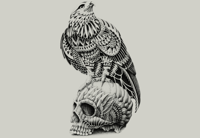 Red-Tail Skull  Artwork