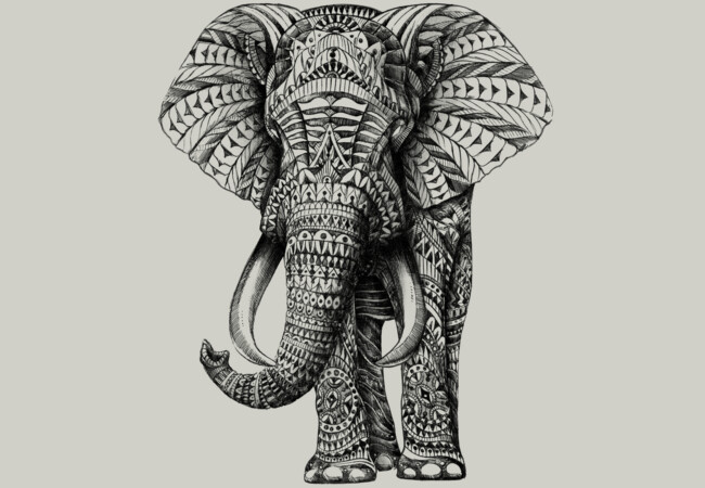 Ornate Elephant  Artwork