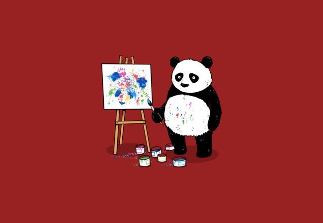 Pandas Paint Colorful Pictures  Artwork