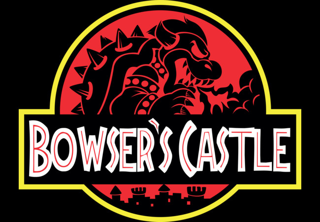 Bowser's Jurassic Castle  Artwork