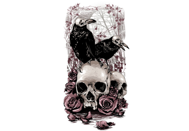 Crows & Skulls W  Artwork