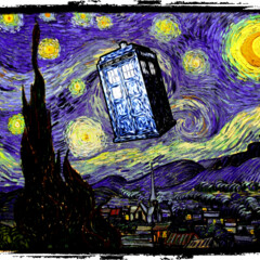 The Tardis in the Starry Night