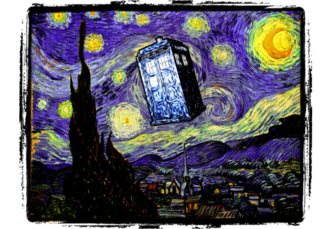 The Tardis in the Starry Night  Artwork