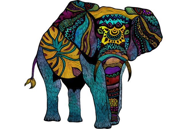 Elephant of Namibia Color  Artwork
