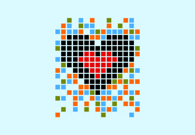 Pixel Heart  Artwork