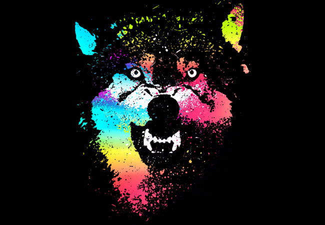Technicolor Wolf  Artwork