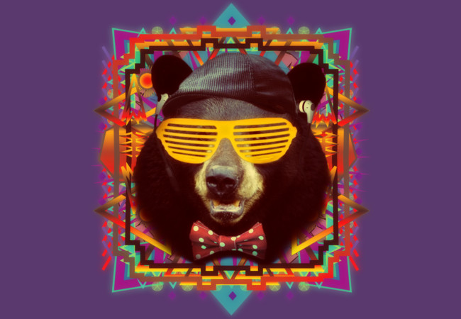 Hipster Bear  Artwork