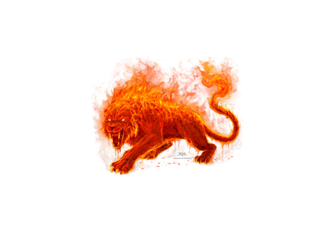 Flame Beast  Artwork
