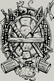 Turtle Family Crest - Sketch Variant