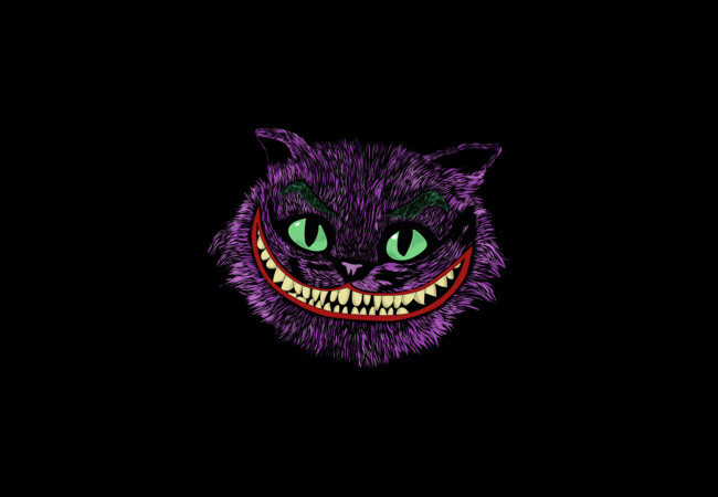 Cheshire cat Head in the Joker  Artwork