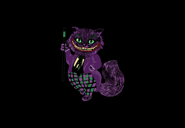 Cheshire cat in the Joker  Artwork