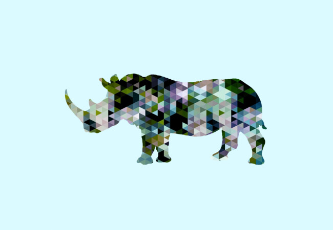 Rhino [Triangulated Series] Small scale  Artwork