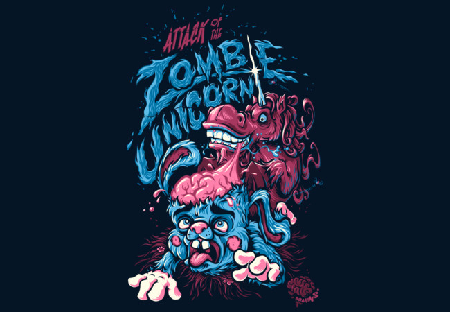 Attack Of The Zombie Unicorn  Artwork