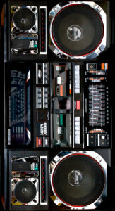 Retro Boombox Ghetto Blaster Case J1