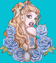 Rose Pin Up Tattoo Art