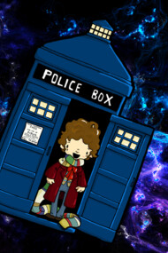 TARDIS in SPACE doctor who 4