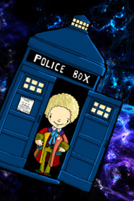 TARDIS in SPACE doctor who 6
