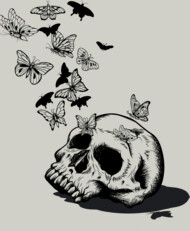 skull into a butterfly nest #2