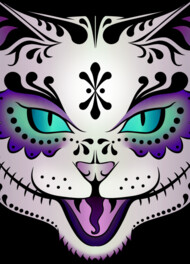Sugar Skull Kitty