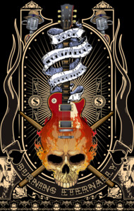 Burning Skull Guitar