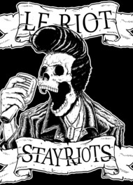 Le Riot Skull Elvis Rock and Roll