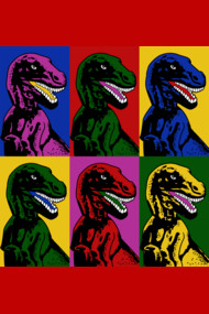 Dinosaur Pop Art