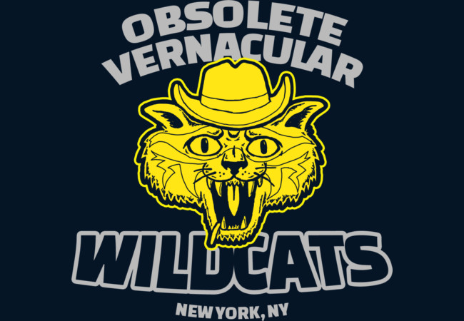 Obsolete Vernacular Wildcats  Artwork