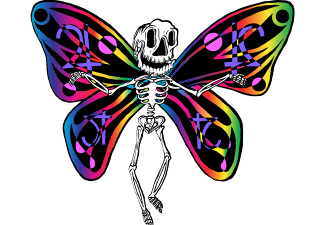 Skull Butterfly  Artwork