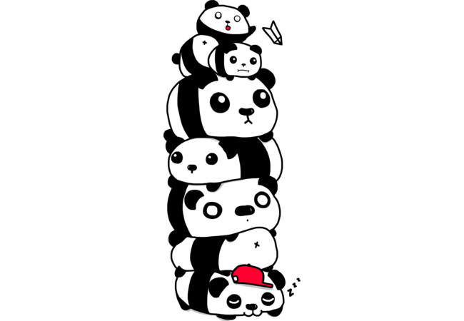 Stack of Pandas  Artwork