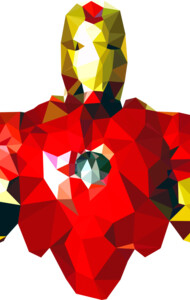 Polygon Heroes Iron Man
