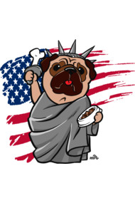 4th of July, Independence day Pug