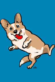 Cartoon Corgi dog shirt
